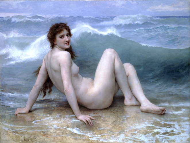 famous painting The wave of William Adolphe Bouguereau