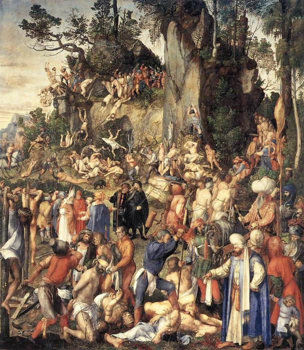 famous painting The Martyrdom of the Ten Thousand of Albrecht Durer