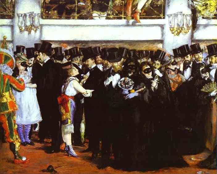 El Baile De Máscaras En La ópera De Edouard Manet Reproducciones De Arte Most Famous Paintings Com