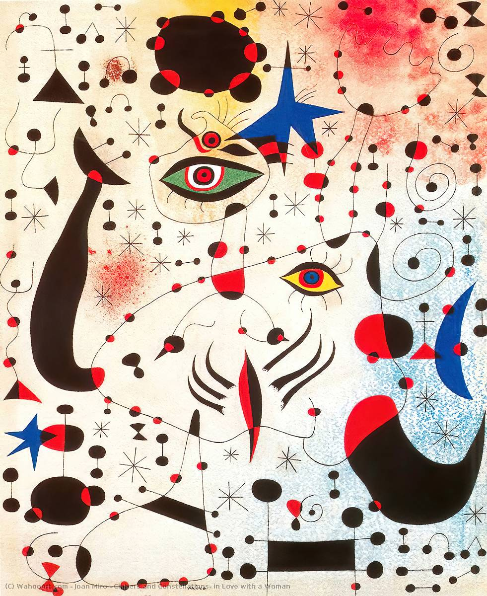 famous painting Ciphers and Constellations, in Love with a Woman of Joan Miro