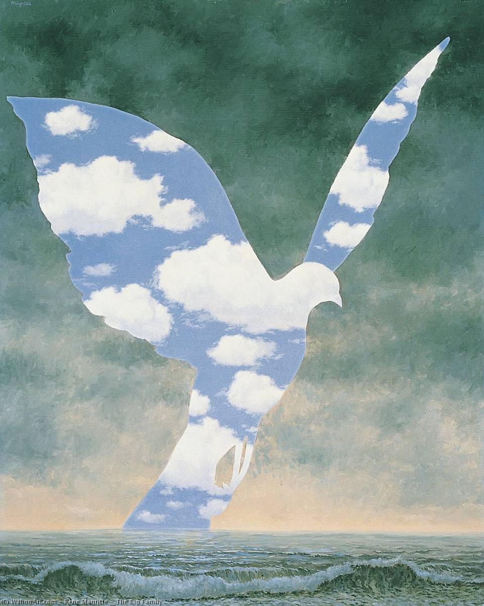 famous painting The Big Family of Rene Magritte