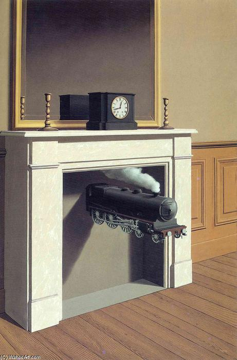 famous painting Time transfixed of Rene Magritte