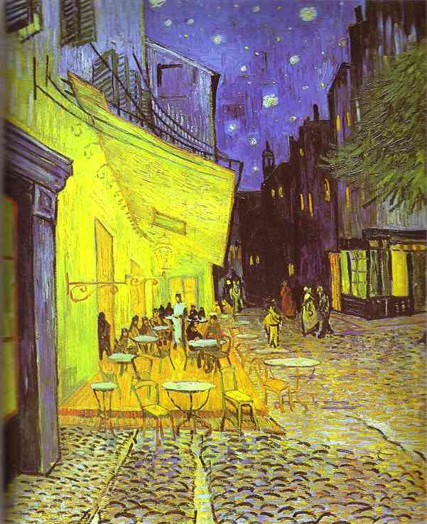 famous painting Café Terrace at Night of Vincent Van Gogh