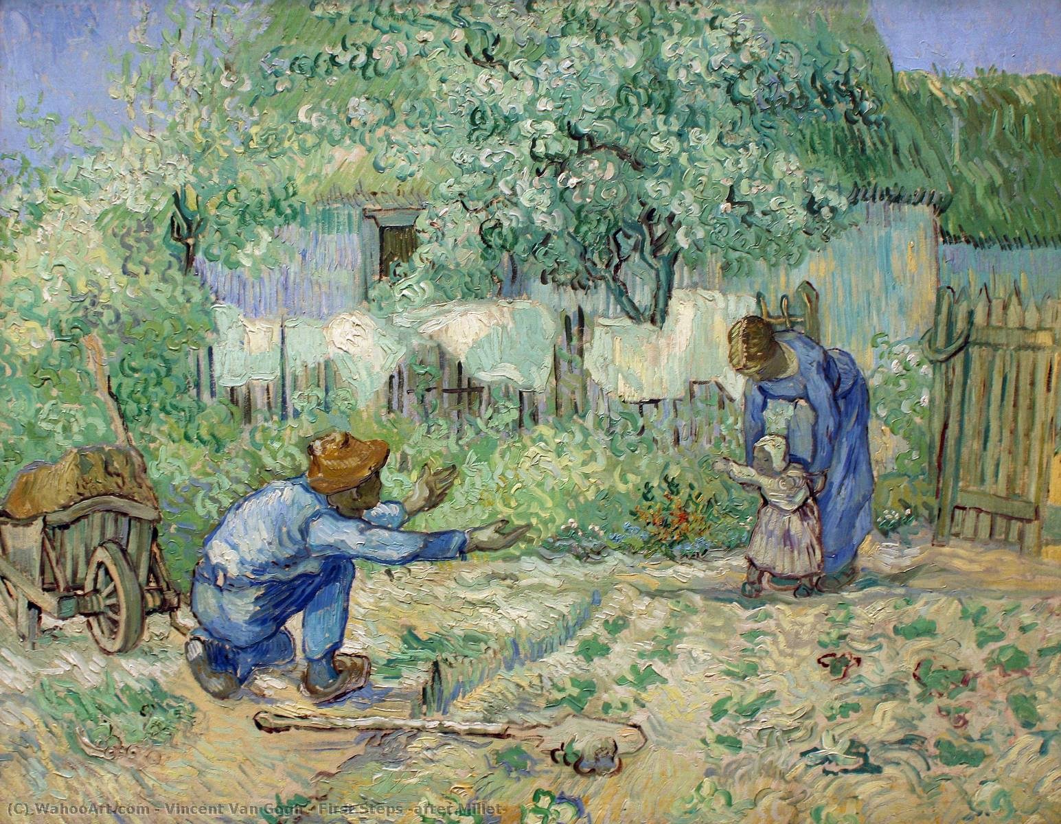 famous painting First Steps (after Millet) of Vincent Van Gogh