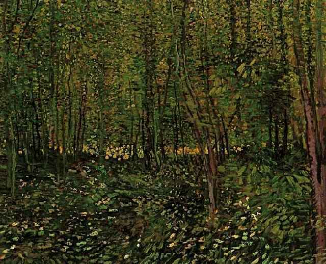 famous painting Trees and Undergrowth 2 of Vincent Van Gogh