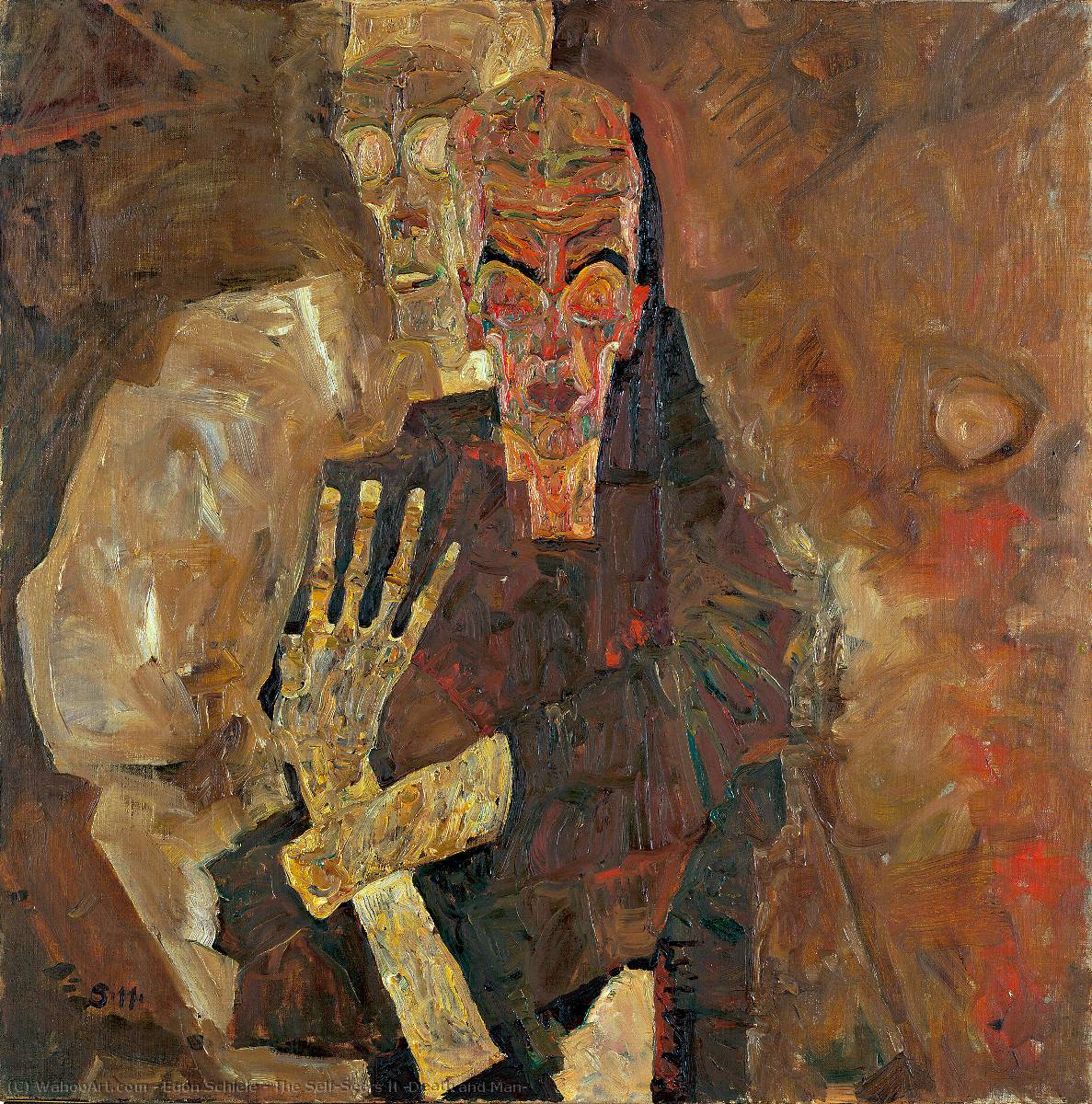 famous painting The Self-Seers II (Death and Man) of Egon Schiele
