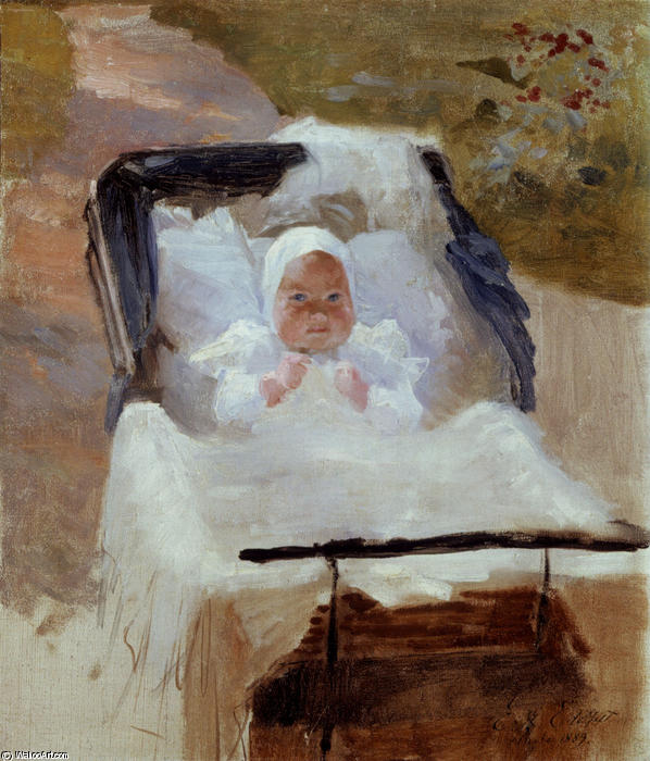 famous painting The Artist's Son Erik in his Pram of Albert Edelfelt