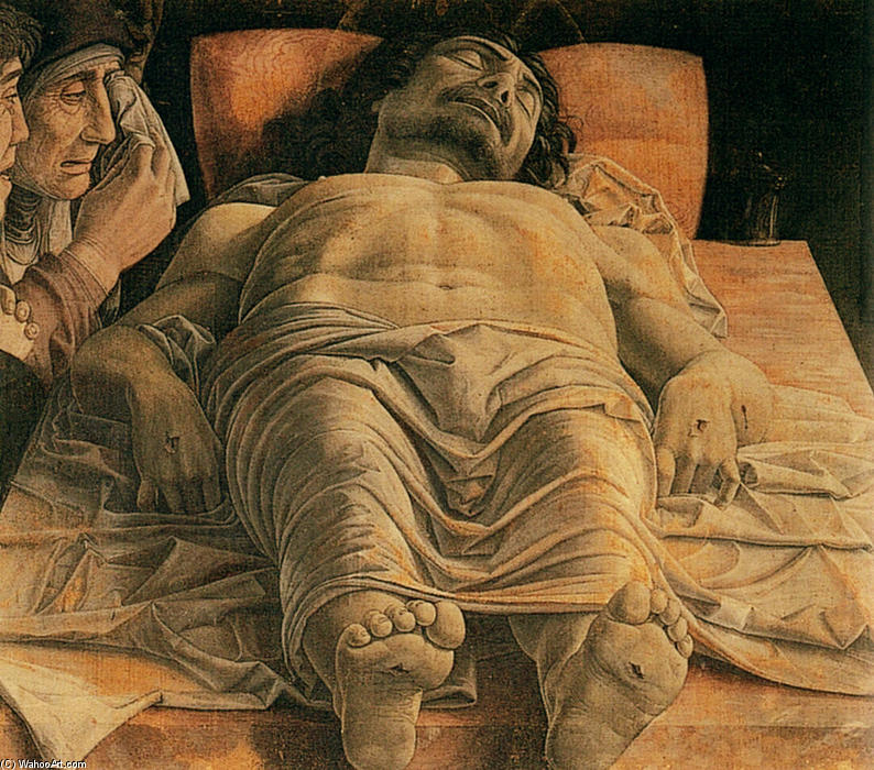 famous painting The Lamentation over the Dead Christ of Andrea Mantegna