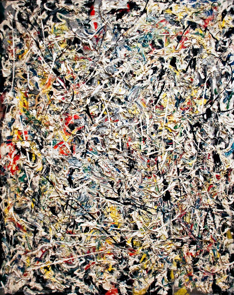 famous painting White Light of Jackson Pollock