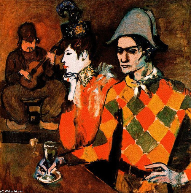 famous painting At the ''Lapin Agile'' of Pablo Picasso
