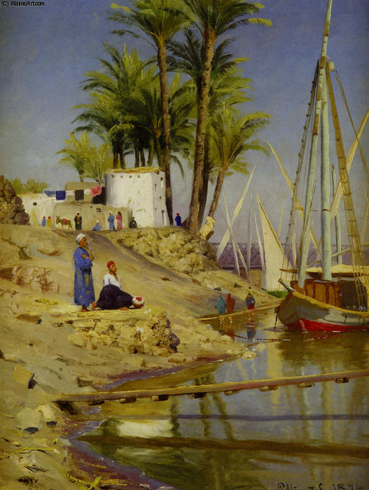 Order Art Reproductions : View of Cairo by Peder Mork Monsted | Most-Famous-Paintings.com