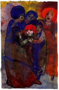 Emile Nolde - Group with Children