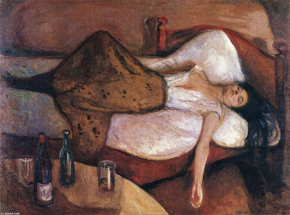 famous painting The Day After of Edvard Munch