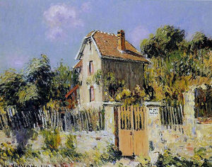 Gustave Loiseau - House with a Red Gate