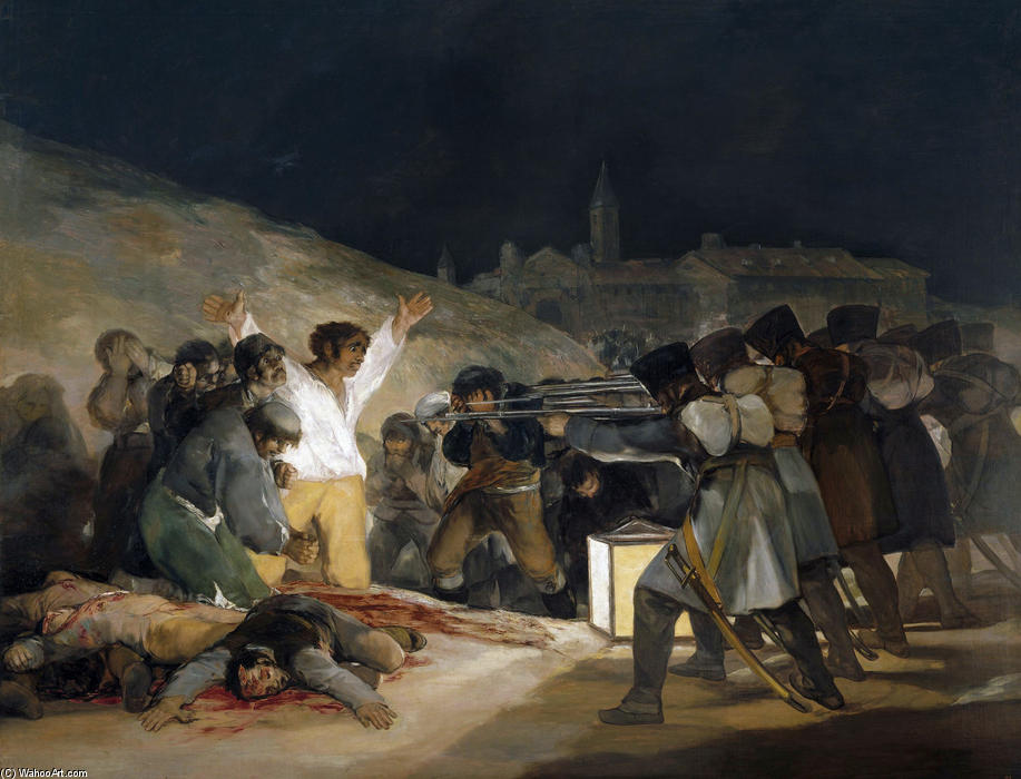famous painting The Third of May 1808 (Execution of the Defenders of Madrid) of Francisco De Goya