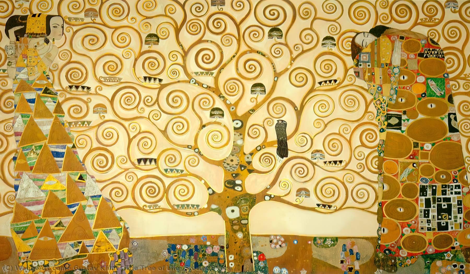 Klimt L Arbre De Vie Tableau l'arbre de la vie , stoclet frise de gustav klimt