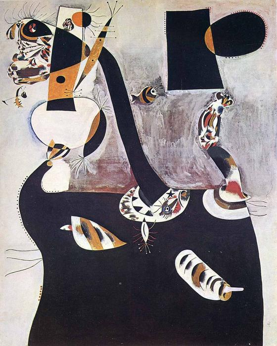 famous painting Seated Woman II of Joan Miro