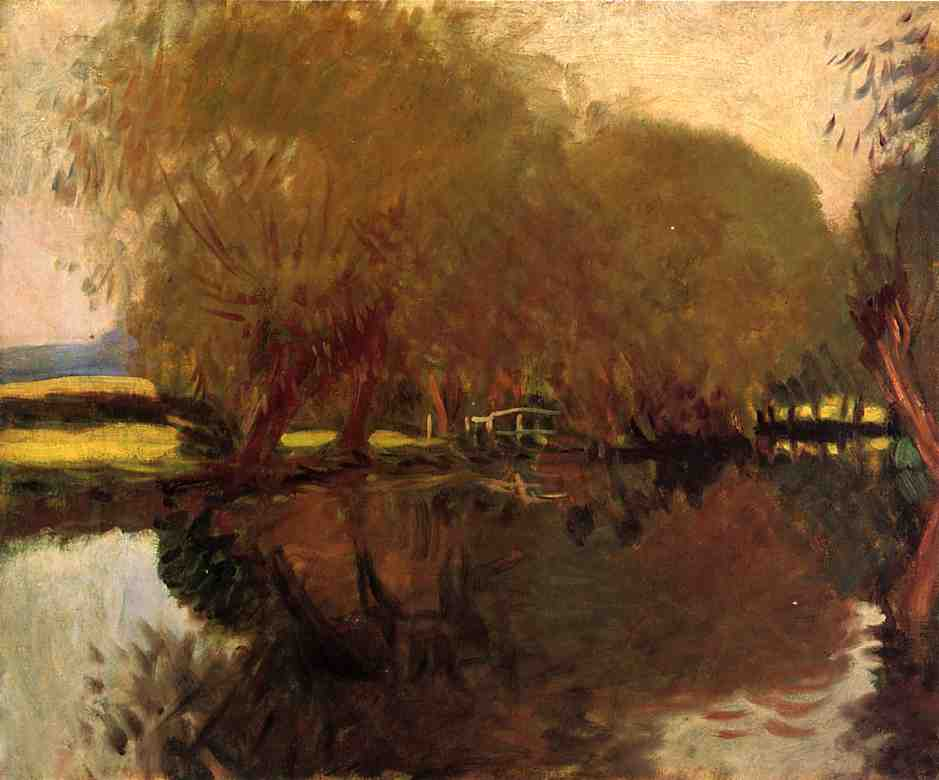famous painting A Backwater at Calcot Near Reading of John Singer Sargent