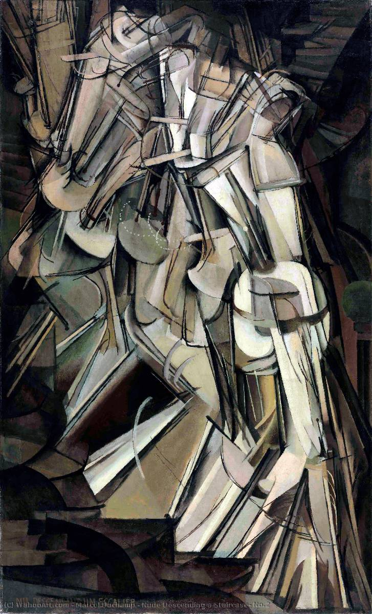 Order Oil Painting : Nude Descending a Staircase, No.2 by Marcel Duchamp | Most-Famous-Paintings.com