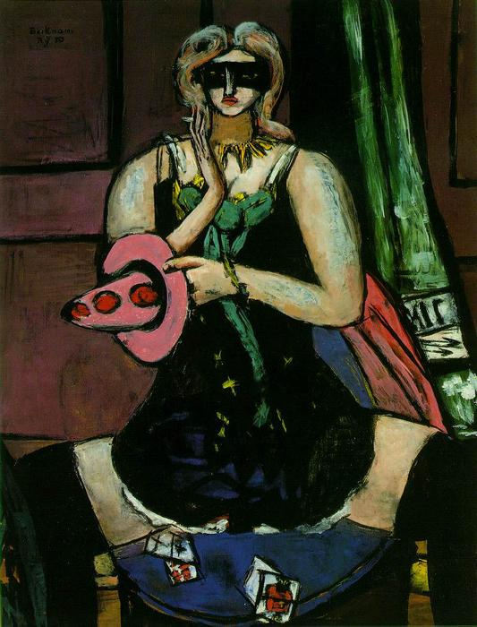 famous painting Columbine of Max Beckmann