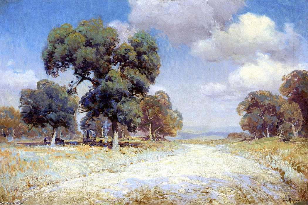 Print Julian Onderdonk Impressionism 08 Hill Country Lane