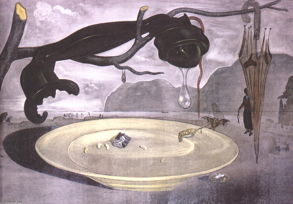 famous painting The Enigma of Hitler of Salvador Dali