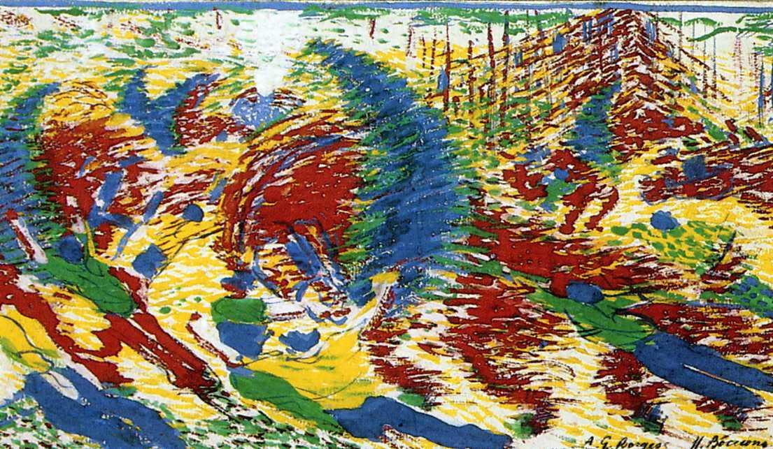 famous painting The City Rises of Umberto Boccioni