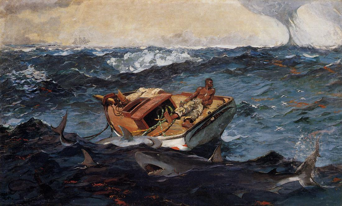 famous painting The Gulf Stream of Winslow Homer