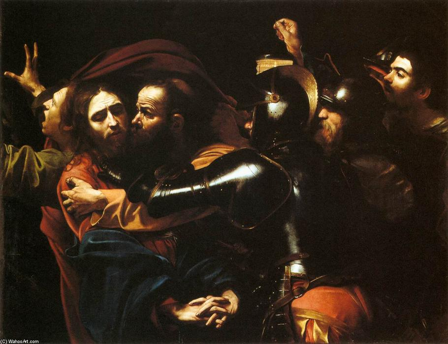 famous painting Taking of Christ of Caravaggio (Michelangelo Merisi)