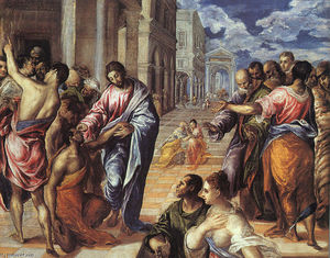 El Greco (Doménikos Theotokopoulos) - Christ Healing the Blind