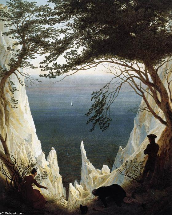 famous painting Chalk Cliffs on Rügen of Caspar David Friedrich