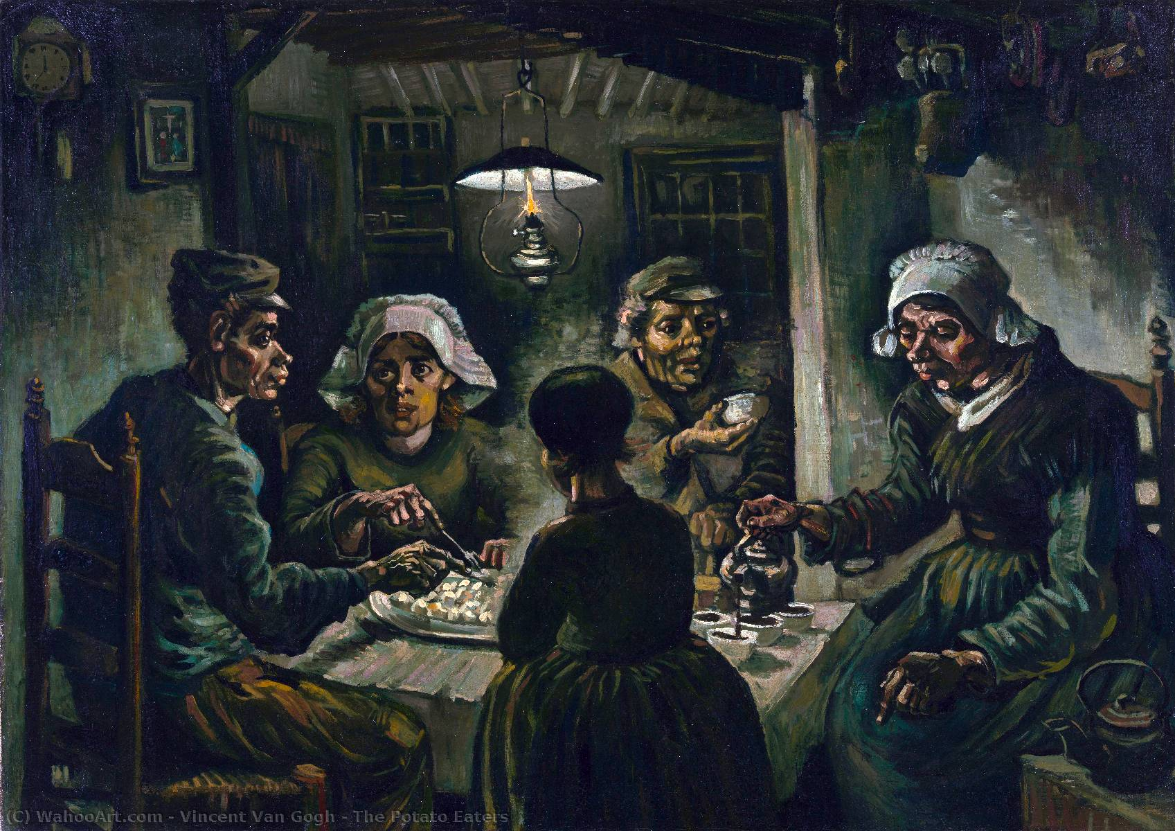 famous painting The Potato Eaters of Vincent Van Gogh