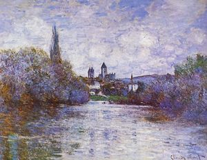 Claude Monet - The Small Arm of the Seine at Vetheuil