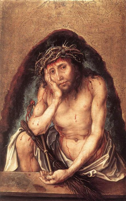 famous painting Christ as the Man of Sorrows of Albrecht Durer