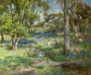 William Stewart Macgeorge - Picking Bluebells