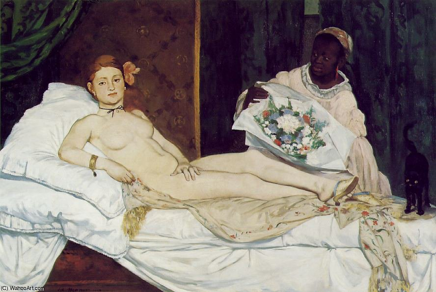 famous painting Olympia, Musee d'Orsay, Paris of Edouard Manet