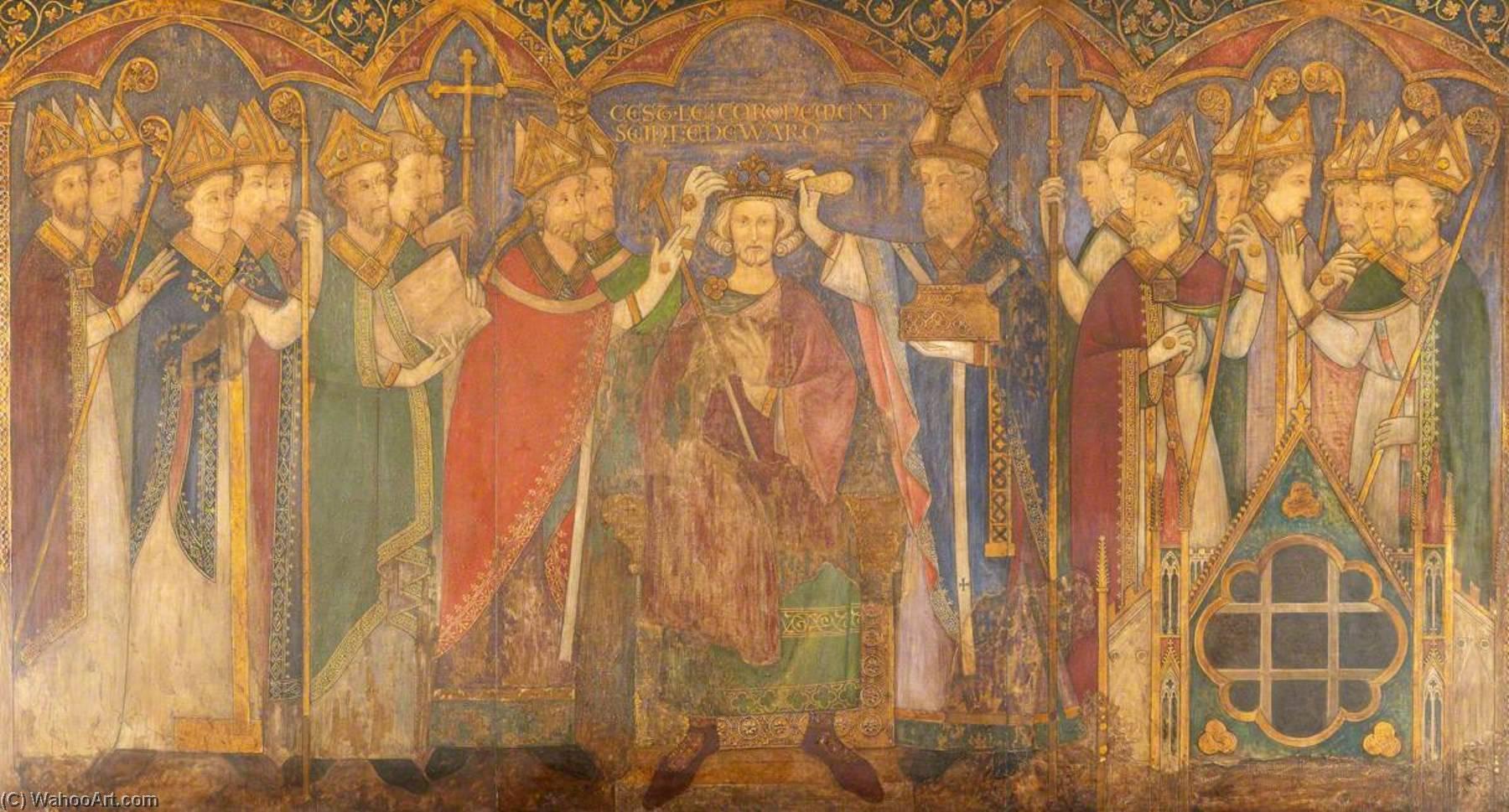 Ricostruzione Di Medievale Pittura Murale Incoronazione Di Edward Il Confessore Di Ernest William Tristram Stampe Di Qualita Del Museo Most Famous Paintings Com